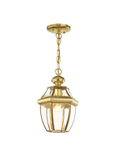 Livex Lighting 2152-02 - 1 Light PB Outdoor Chain Lantern