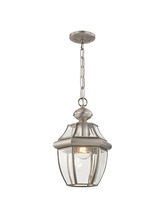 Livex Lighting 2152-91 - 1 Light BN Outdoor Chain Lantern