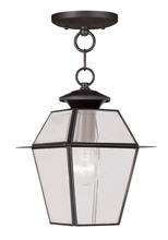 Livex Lighting 2183-07 - 1 Light Bronze Outdoor Chain Lantern