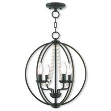 Livex Lighting 40914-92 - 4 Light EBZ Mini Chandelier/Flush Mount