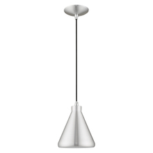 Livex Lighting 41177-66 - 1 Lt Brushed Aluminum Mini Pendant