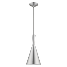 Livex Lighting 41185-66 - 1 Lt Brushed Aluminum Mini Pendant
