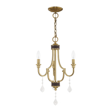 Livex Lighting 41273-01 - 3 Lt Antique Brass Mini Chandelier