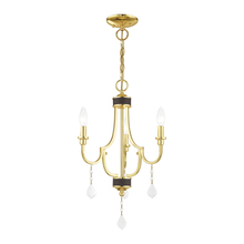 Livex Lighting 41273-02 - 3 Lt Polished Brass Mini Chandelier