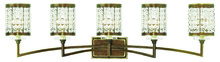 Livex Lighting 50565-64 - 5 Light Palacial Bronze Bath Light