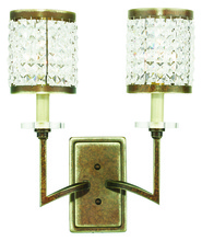 Livex Lighting 50572-64 - 2 Light Palacial Bronze Wall Sconce