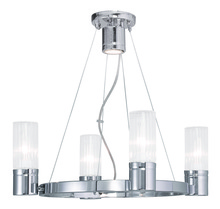 Livex Lighting 50694-05 - 4 Light Polished Chrome Chandelier