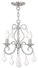 Livex Lighting 50763-91 - 3 Light BN Mini Chandelier/Ceiling Mount