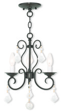 Livex Lighting 50763-92 - 3 Light EBZ Mini Chandelier/Flush Mount