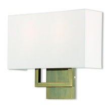 Livex Lighting 50990-01 - 2 Lt AB ADA Wall Sconce