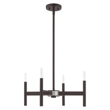 Livex Lighting 51174-07 - 4 Lt Bronze Mini Chandelier