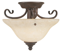 Livex Lighting 6109-58 - 1 Light Imperial Bronze Ceiling Mount