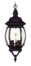Livex Lighting 7527-04 - 3 Light Black Chain Lantern