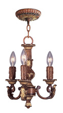 Livex Lighting 8583-63 - 3 Light VBZ Mini Chandelier