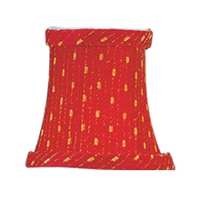 Livex Lighting S240 - Red/Gold Patterned Bell Clip Shade