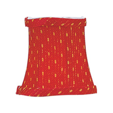 Livex Lighting S241 - Red/Gold Patterned Bell Clip Shade