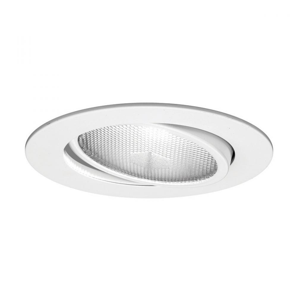 One Light White Directional Recessed Light