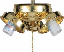 Volume Lighting V0923-2 - 3-light Polished Brass Ceiling Fan Light Kit