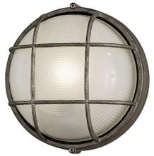 Forecast F9039665NV - One Light Silver Rust Etched Glass Marine Light