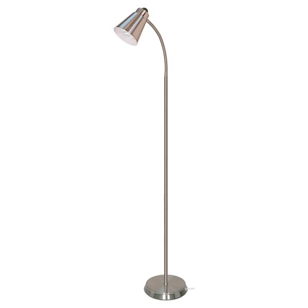 GOOSENECK FLOOR LAMP BN FINISH