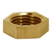 "Satco Products Inc. 90/1701 - Brass Hexagon Locknut 1/4 IP 1-1/16"" Hex., 3/16"" Thick"
