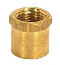 "Satco Products Inc. 90/2153 - Brass Couplings-Unfinished 1/2"" Long Hexagon Head Coupling - 1/8 IP"