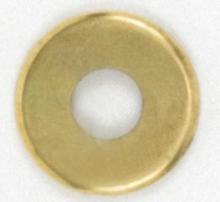 Satco Products Inc. 90/351 - Steel Check Ring Curled Edge 1/8 IP Slip - Brass Plated 2""