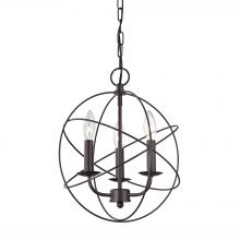 Thomas 1513CH/10 - Williamsport 3 Light Chandelier In Oiled Rubbed