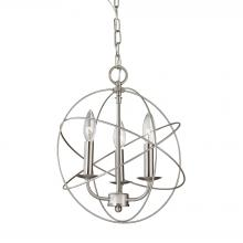 Thomas 1513CH/20 - Williamsport 3 Light Chandelier In Brushed Nicke