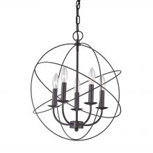 Thomas 1515CH/10 - Williamsport 5 Light Chandelier In Oil Rubbed Br