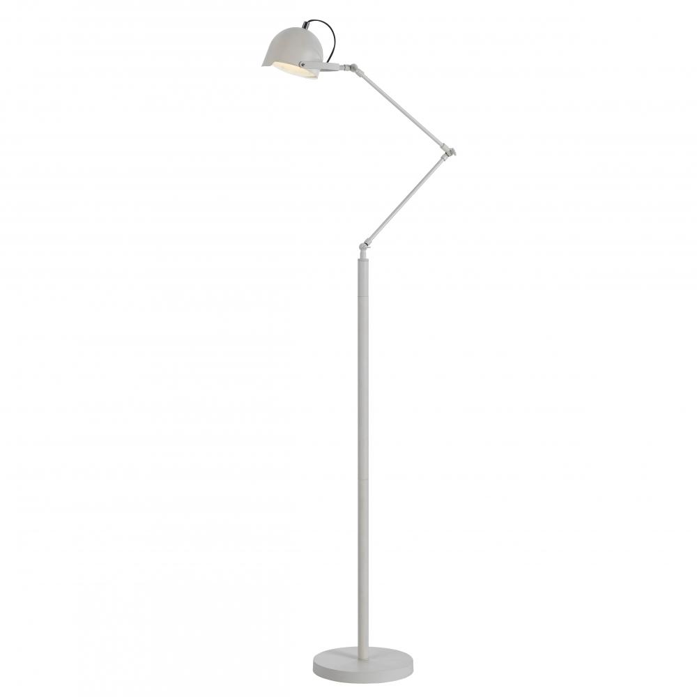 Two Light Silver Table Lamp