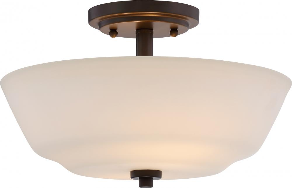 Willow 2 Light Semi Flush