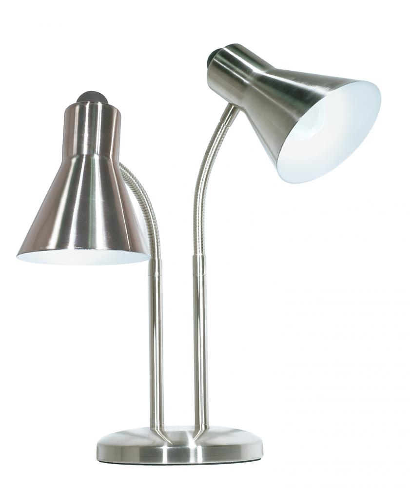 Twin Goose Neck Desk Lamp BN